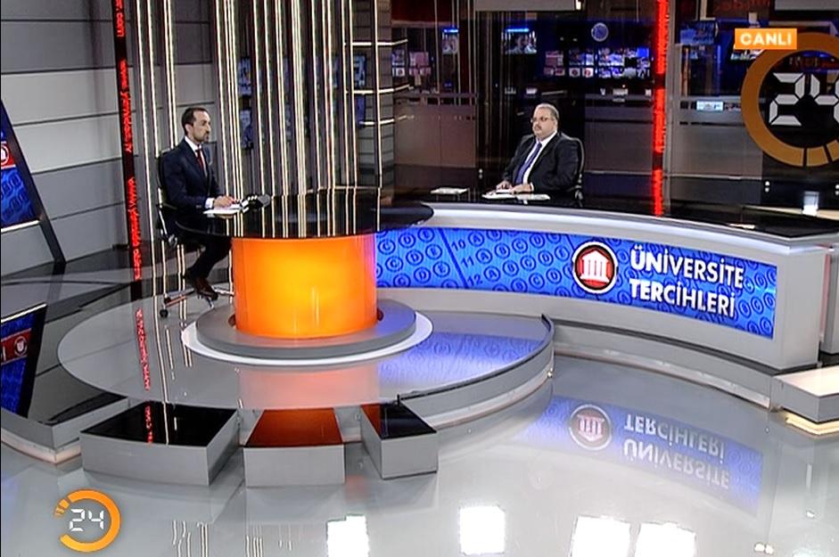 Rektör Yardımcımız Prof. Dr. Ali Güneş 24 TV'ye Konuk Oldu